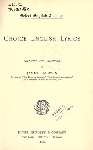 Choice English lyrics