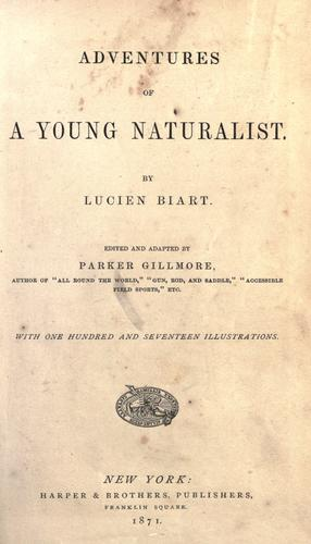 Download Adventures of a young naturalist