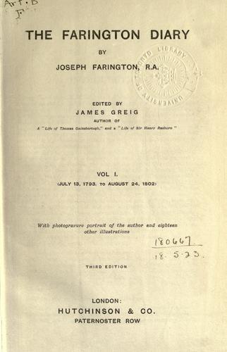 The Farington diary
