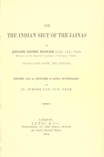 On the Indian sect of the Jainas.
