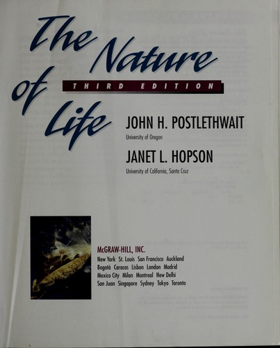 Download The nature of life