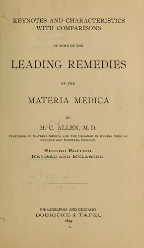 Download Keynotes and characteristics with comparisons of some of the leading remedies of the materia medica.