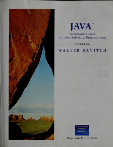 Java by Walter J. Savitch