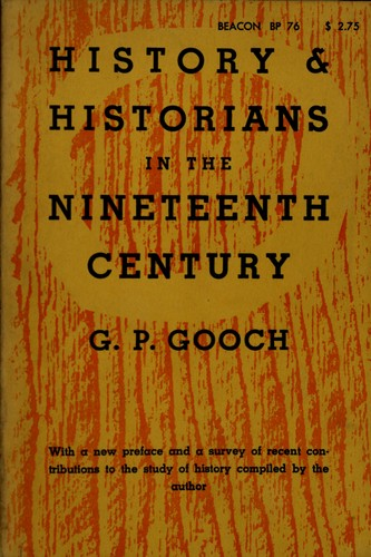 History and historians in the nineteenth century.