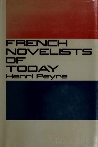 French novelists of today.