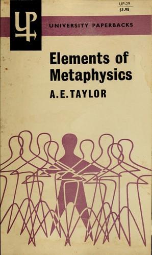 Elements of metaphysics.