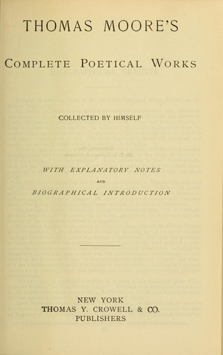 Thomas Moore's complete poetical works microform