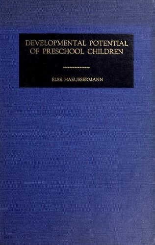 Developmental potential of preschool children