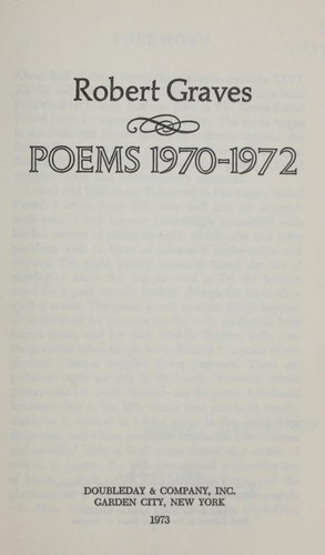 Poems, 1970-1972