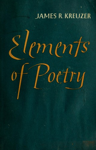 Elements of poetry.