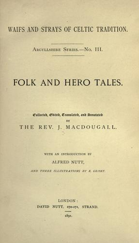 Folk and hero tales.