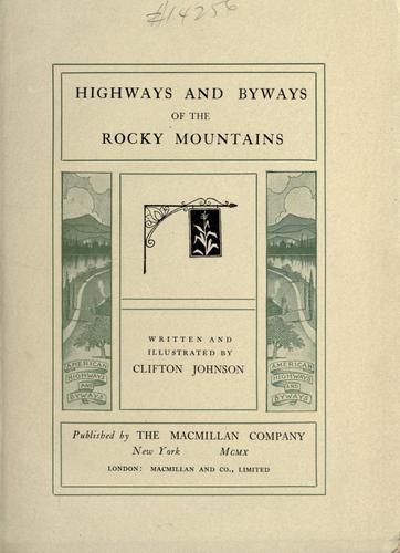 Download Highways and byways of the Rocky Mountains
