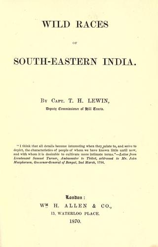 Download Wild races of south-eastern India.