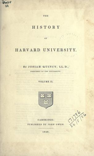 The history of Harvard University.