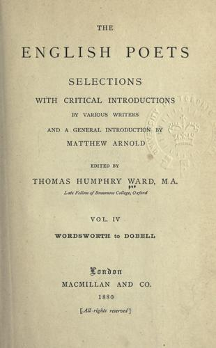Download The English poets