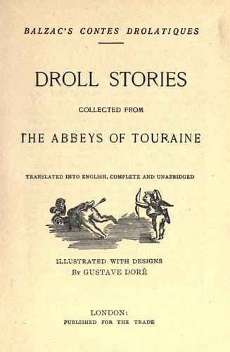 Balzac's Contes drolatiques