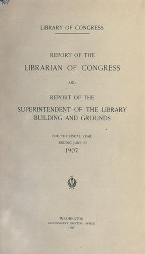 Report of the Librarian of Congress.
