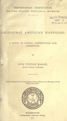 Download Aboriginal American harpoons