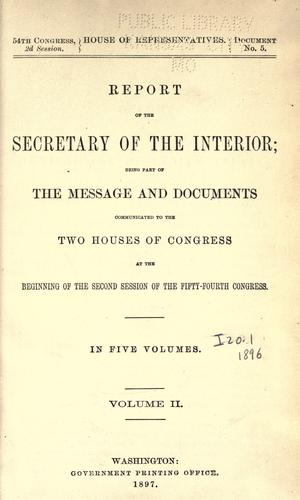 Download Report of the Secretary of the Interior