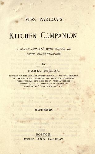 Download Miss Parloa's kitchen companion