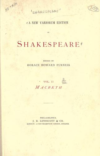 Download A new variorum edition of Shakespeare.