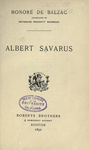 Download Albert Savarus