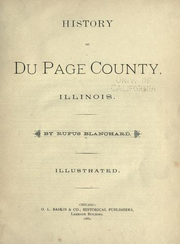 History of Du Page County, Illinois.