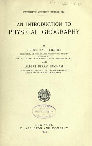 Download An introduction to physical geography