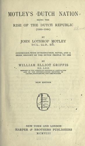 Motley's Dutch nation