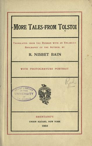 Download More tales from Tolstoi