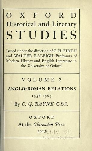 Download Anglo-Roman relations, 1558-1565