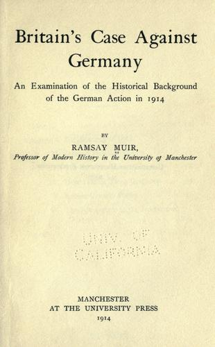 Britain's case against Germany