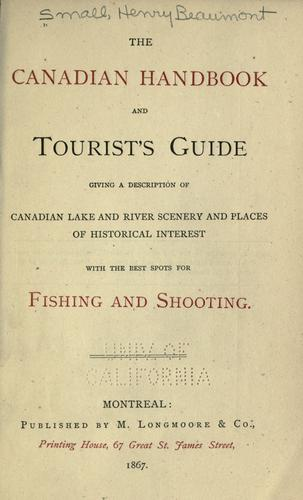 Download The Canadian handbook and tourist's guide