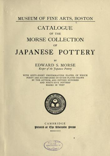 Download Catalogue of the Morse collection of Japanese pottery