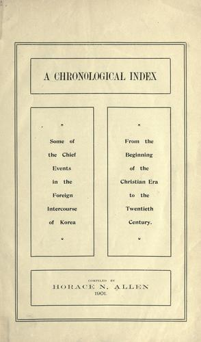 Download A chronological index