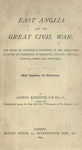 Download East Anglia and the great civil war.