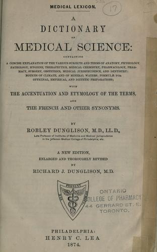 Download Medical lexicon