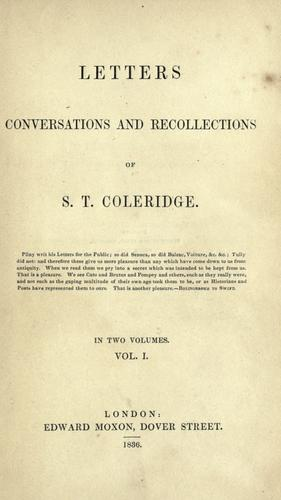 Download Letters, conversations, and recollections of S. T. Coleridge …