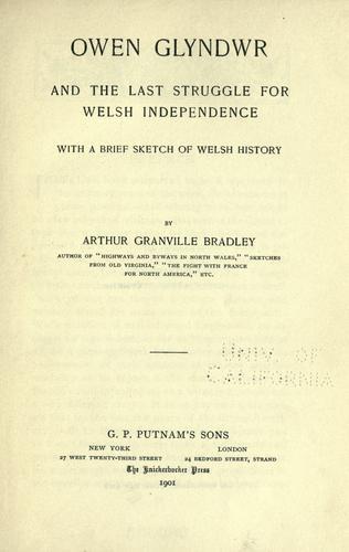Download Owen Glyndwr and the last struggle for Welsh independence