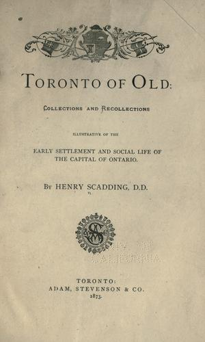 Download Toronto of old