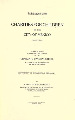 Charities for children in the City of Mexico.