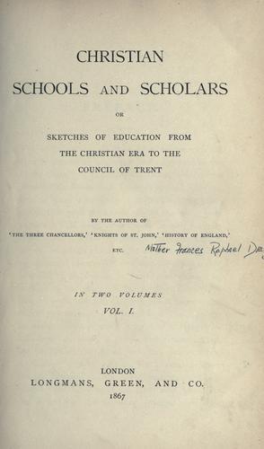 Christian schools and scholars