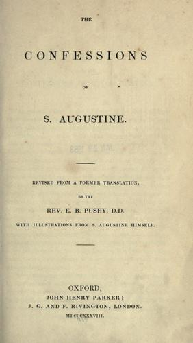 Download The confessions of S. Augustine