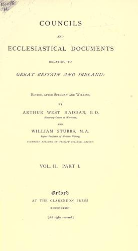 Download Councils and ecclesiastical documents relating to Great Britain and Ireland