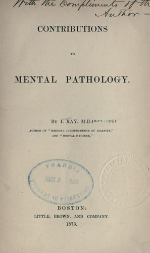 Download Contributions to mental pathology