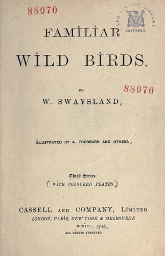 Familiar wild birds