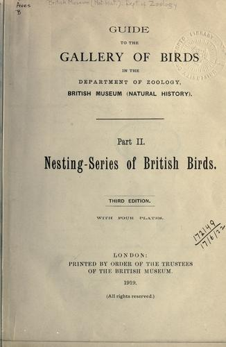 Download Guide to the gallery of birds in the Department of Zoology, British Museum (Natural History)