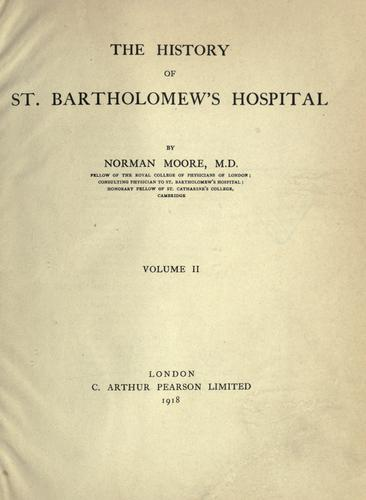 The history of St. Bartholomew's hospital