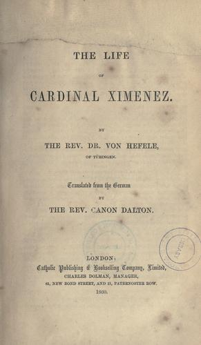 Download The life of Cardinal Ximenez