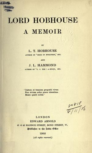 Download Lord Hobhouse